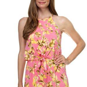 Floral Print Sleeveless Romper